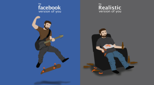 facebook vs real life
