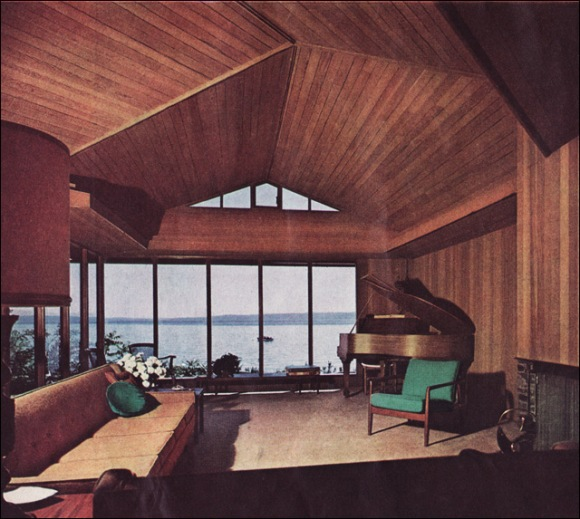 vintage interior design decoration 60s