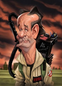 anthony geoffroy Caricature bill murray ghost busters