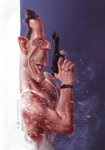 anthony geoffroy Caricature bruce willis die hard