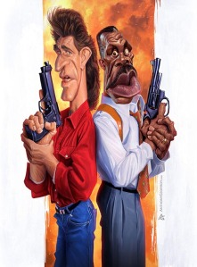 anthony geoffroy Caricature mel gibson leathal weapon