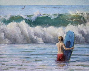 Micaiah Hardison surf paintings