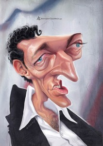 anthony geoffroy Caricature Vincent Cassel