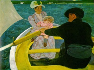 Impressionism painting Mary Cassatt boating