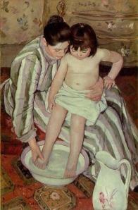 Impressionism painting Mary Cassatt toilette