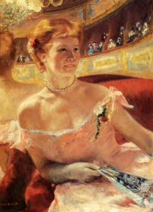 Impressionism painting Mary Cassatt Woman with a Pearl Necklace