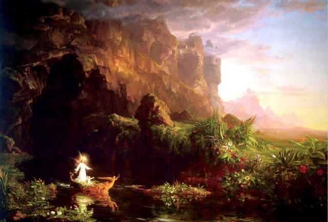 Thomas Cole voyage of life childhood romanticism naturalism