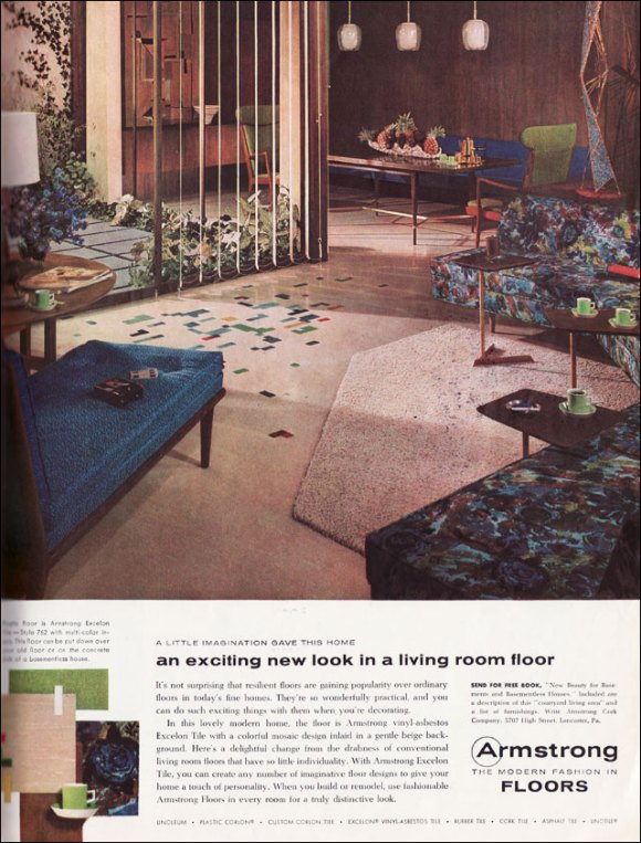 vintage interior design and decoration 50s