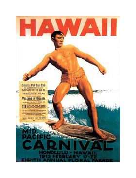vintage surf art posters