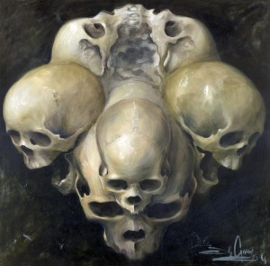jeff gogue art skulls