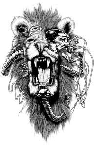 joe king badass black and white art
