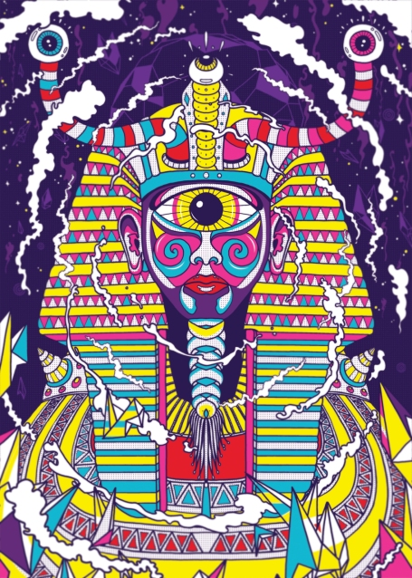 pharaoh egypt psychedelic artwork poster tutorial photoshop