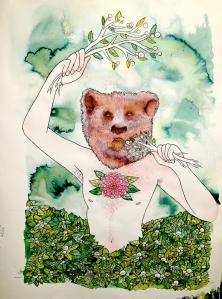 bear power animal illustration