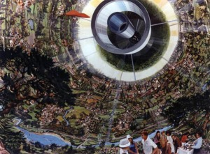 Space Colony Futuristic Art From The 1970s