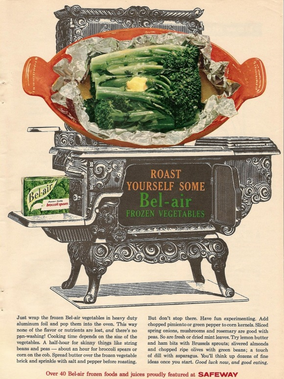 vintage 50s and 60s food ads